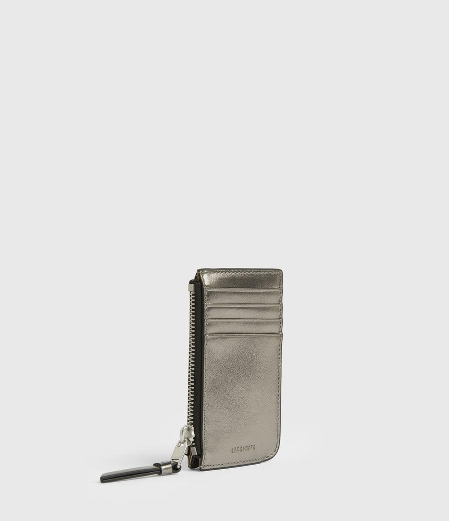 Women's Marlborough Leather Wallet (silver) - Image 3