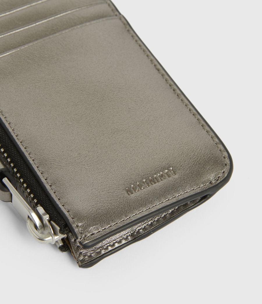 Women's Marlborough Leather Wallet (silver) - Image 4
