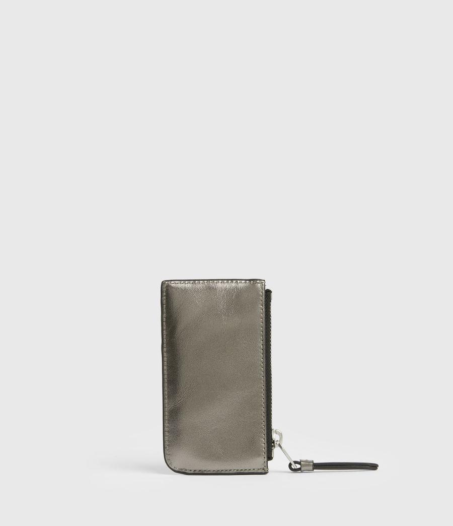 Women's Marlborough Leather Wallet (silver) - Image 5