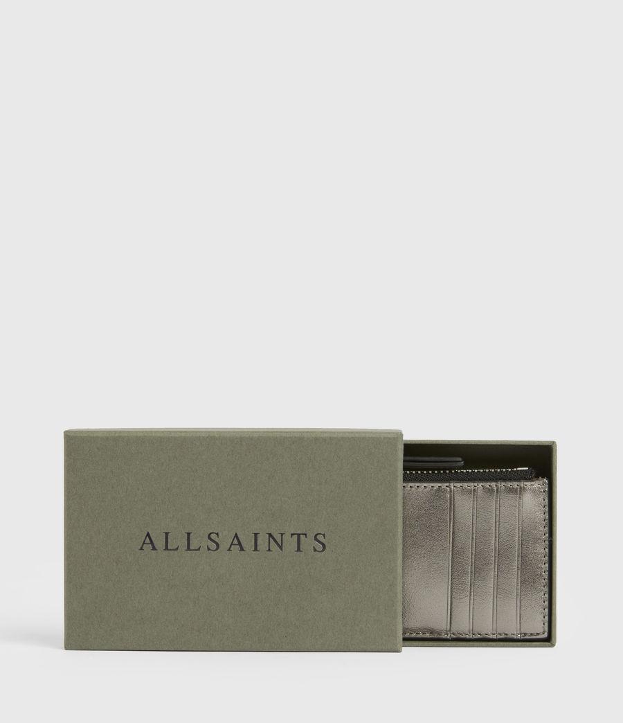 Women's Marlborough Leather Wallet (silver) - Image 6