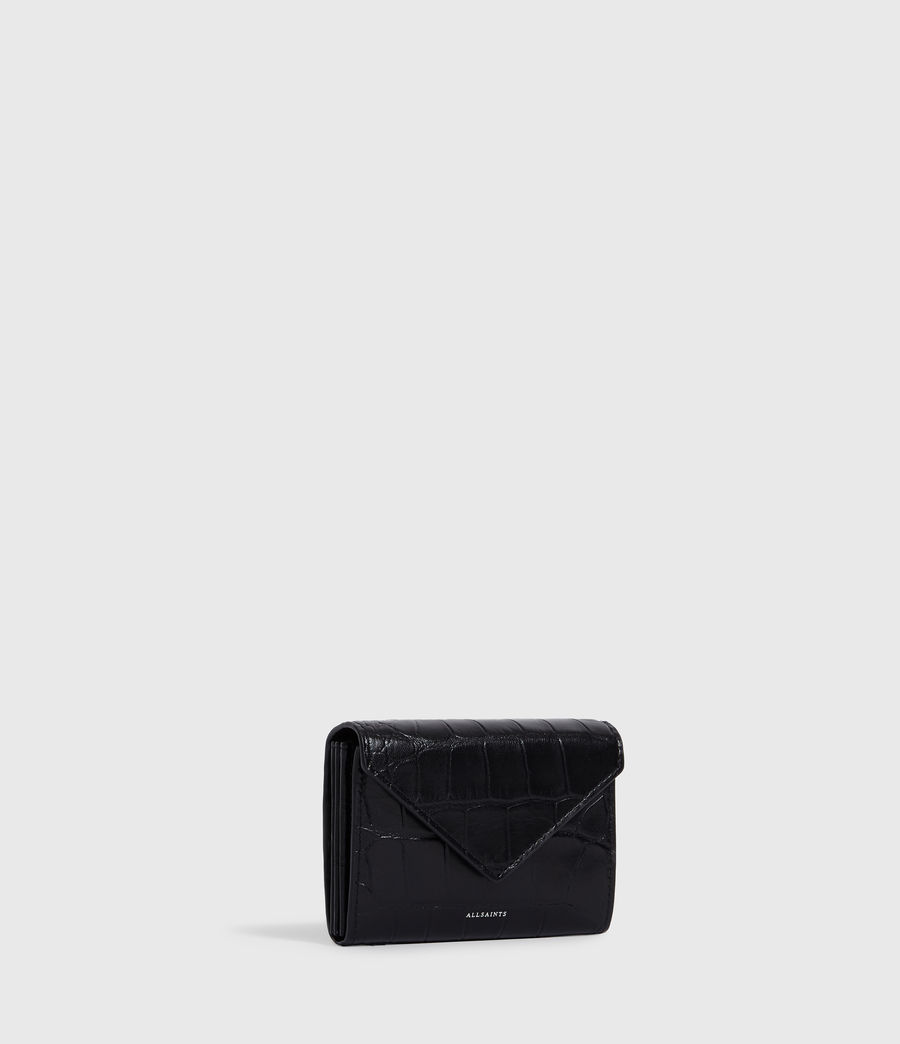 Womens Polly Flap Leather Cardholder (black) - Image 3