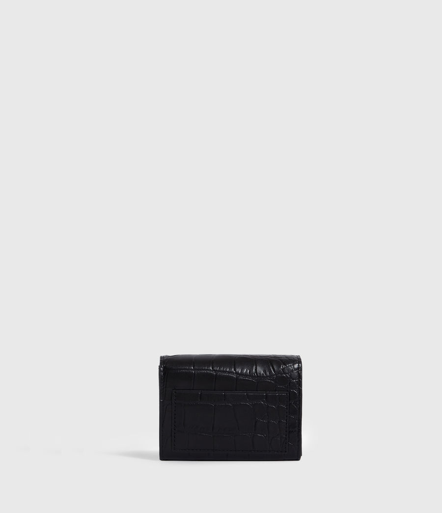Womens Polly Flap Leather Cardholder (black) - Image 5