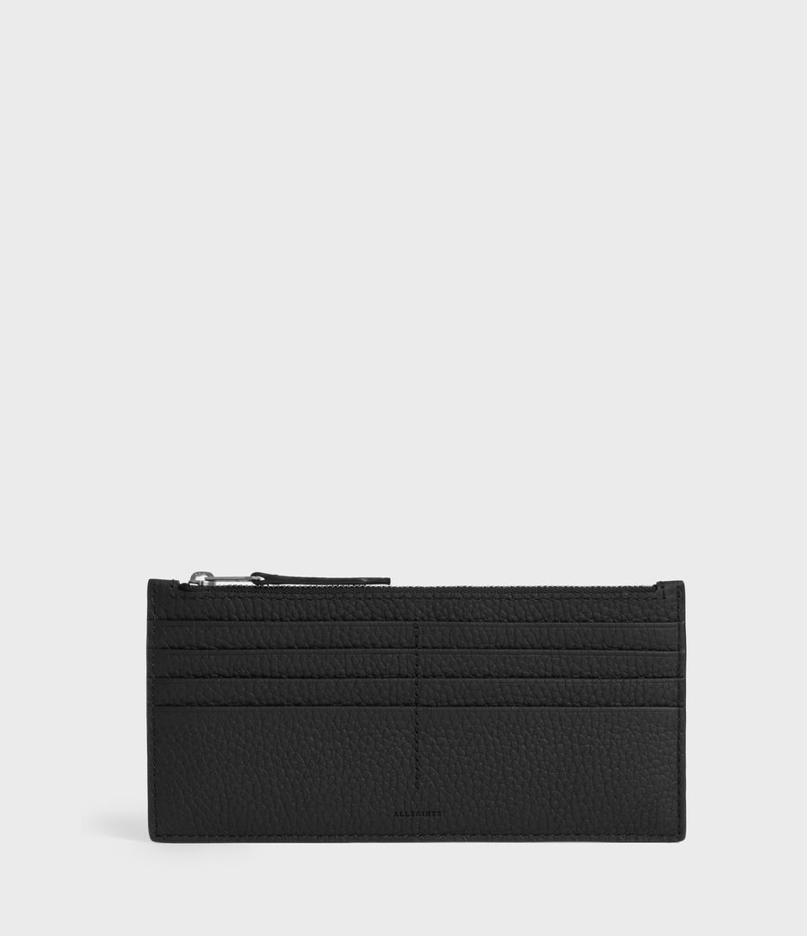 Women's Clip Leather Lea Zip Cardholder (black) - Image 1