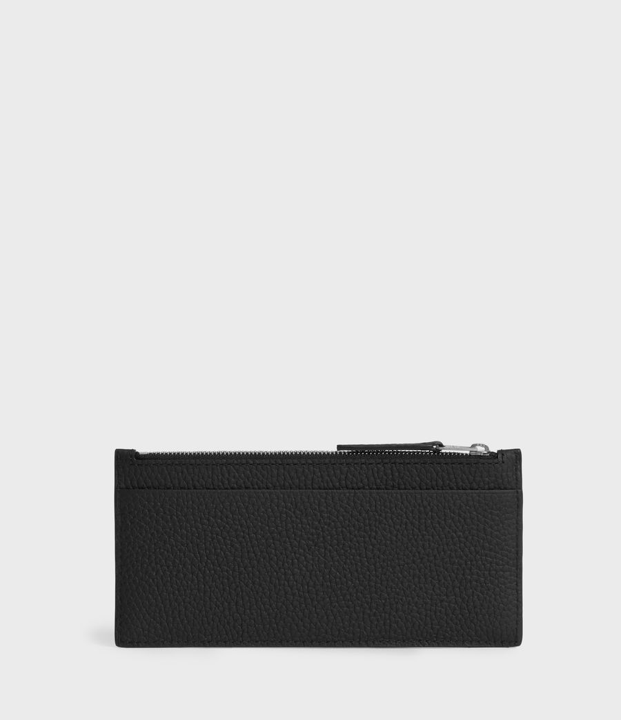 Women's Clip Leather Lea Zip Cardholder (black) - Image 3
