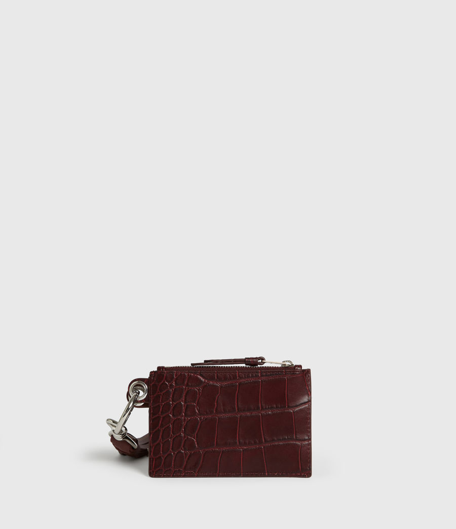 Women's Dive Polly Leather Key Fob (bordeaux_red) - Image 1