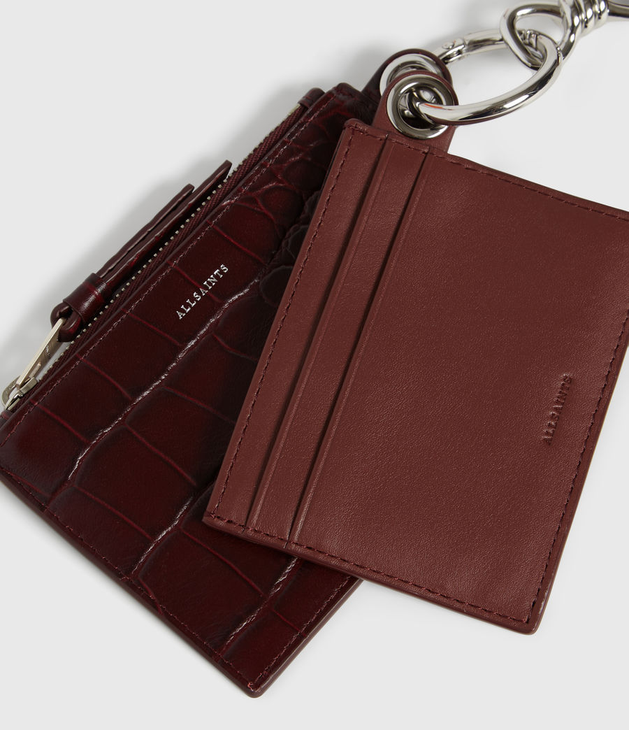 Women's Dive Polly Leather Key Fob (bordeaux_red) - Image 2