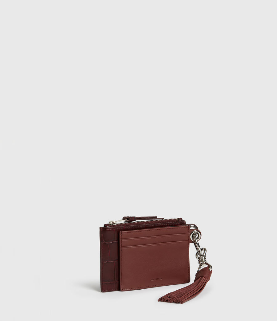 Women's Dive Polly Leather Key Fob (bordeaux_red) - Image 3