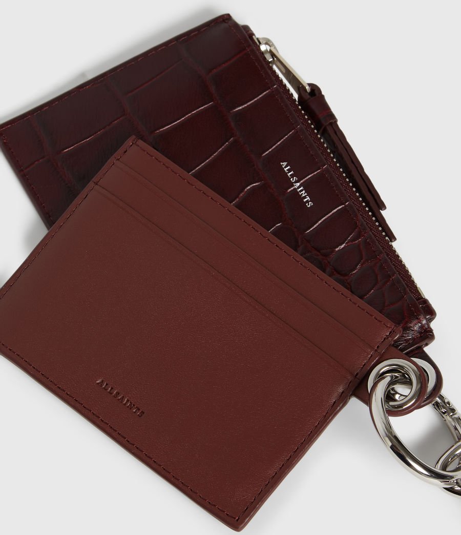 Women's Dive Polly Leather Key Fob (bordeaux_red) - Image 7