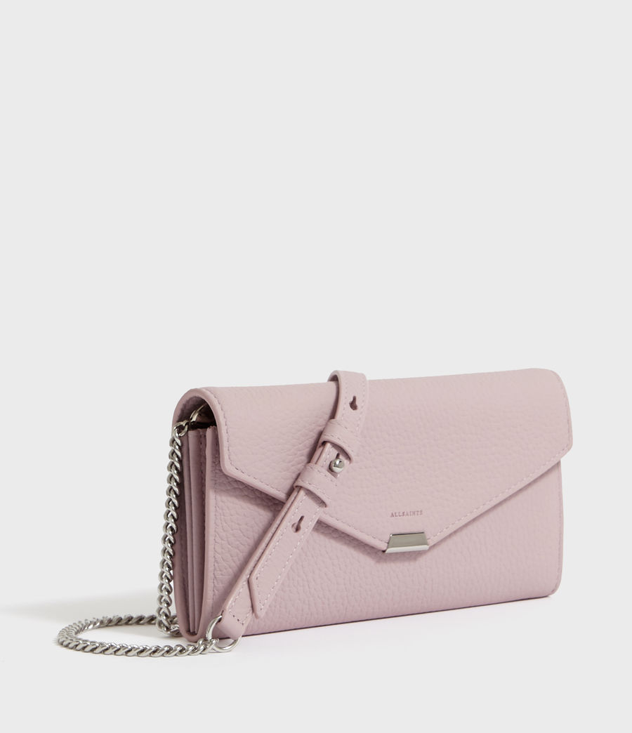 Women's Captain Chain Leather Wallet (lavender) - Image 2