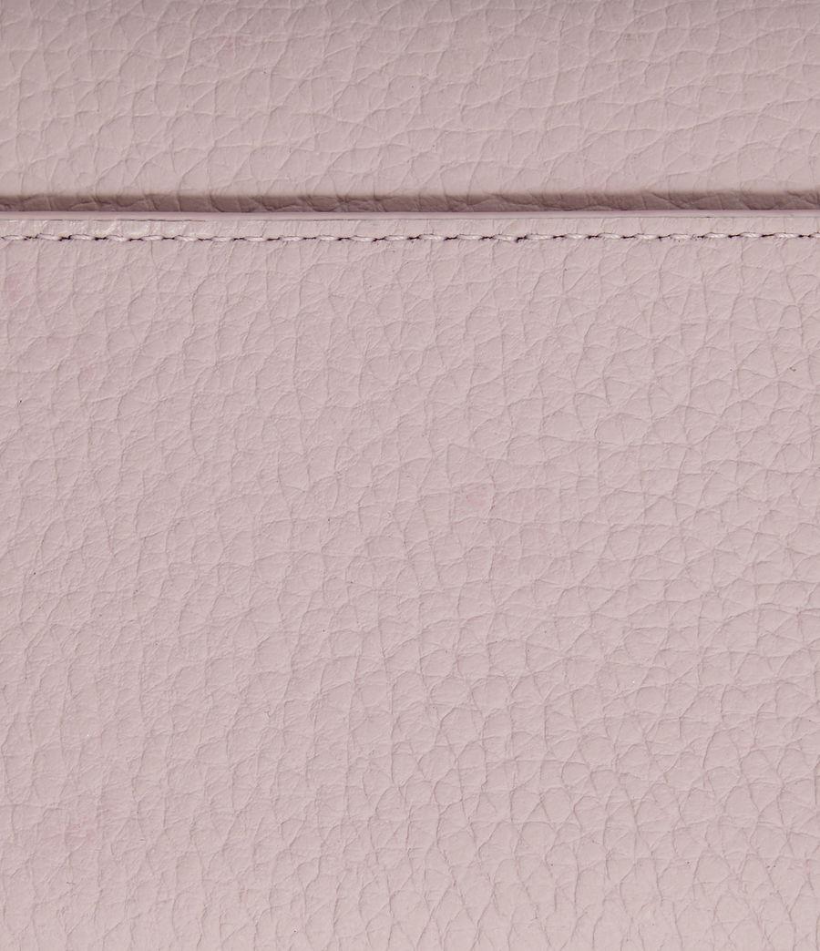 Women's Captain Leather Chain Wallet (black) - Image 4