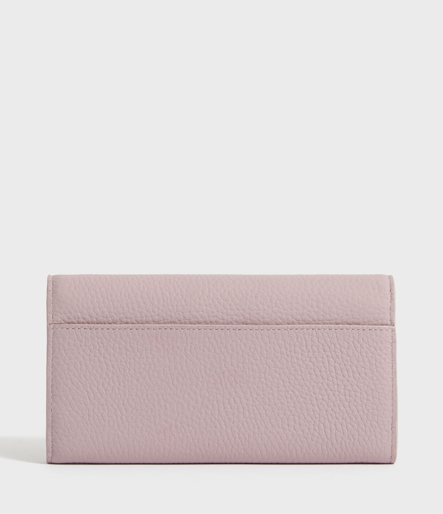 Women's Captain Chain Leather Wallet (lavender) - Image 5