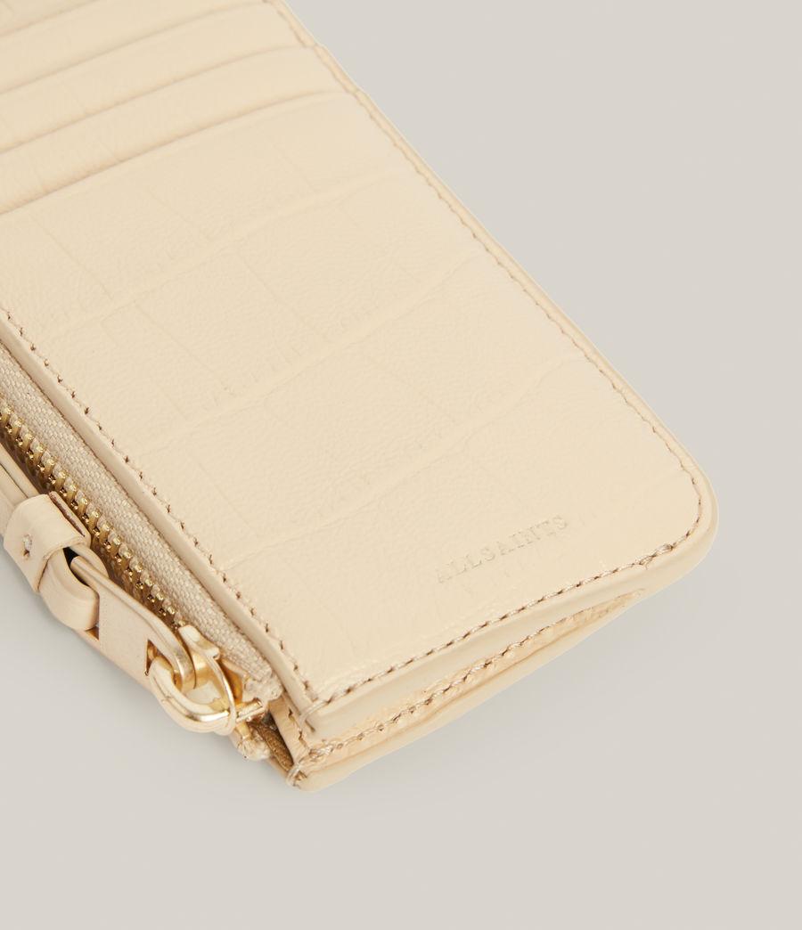 Women's Marlborough Leather Wallet (parchment_white) - Image 4