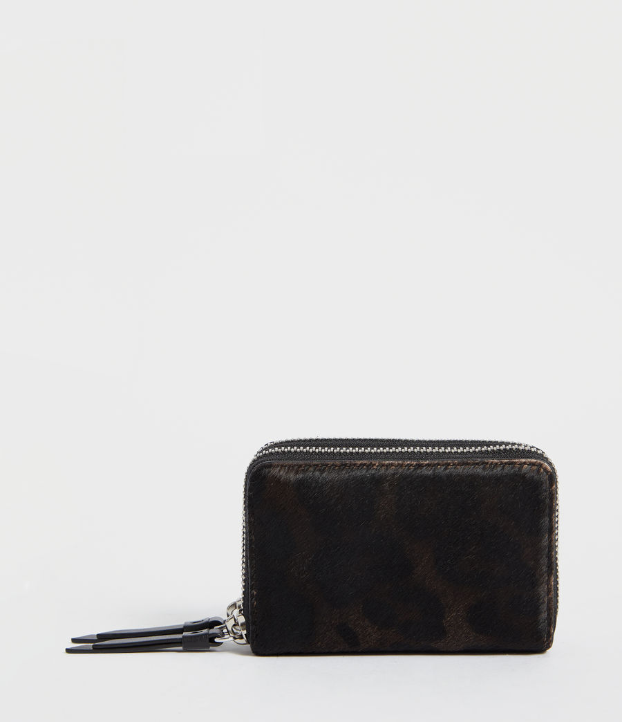 Mujer Fetch Leather Cardholder (leopard_black) - Image 1