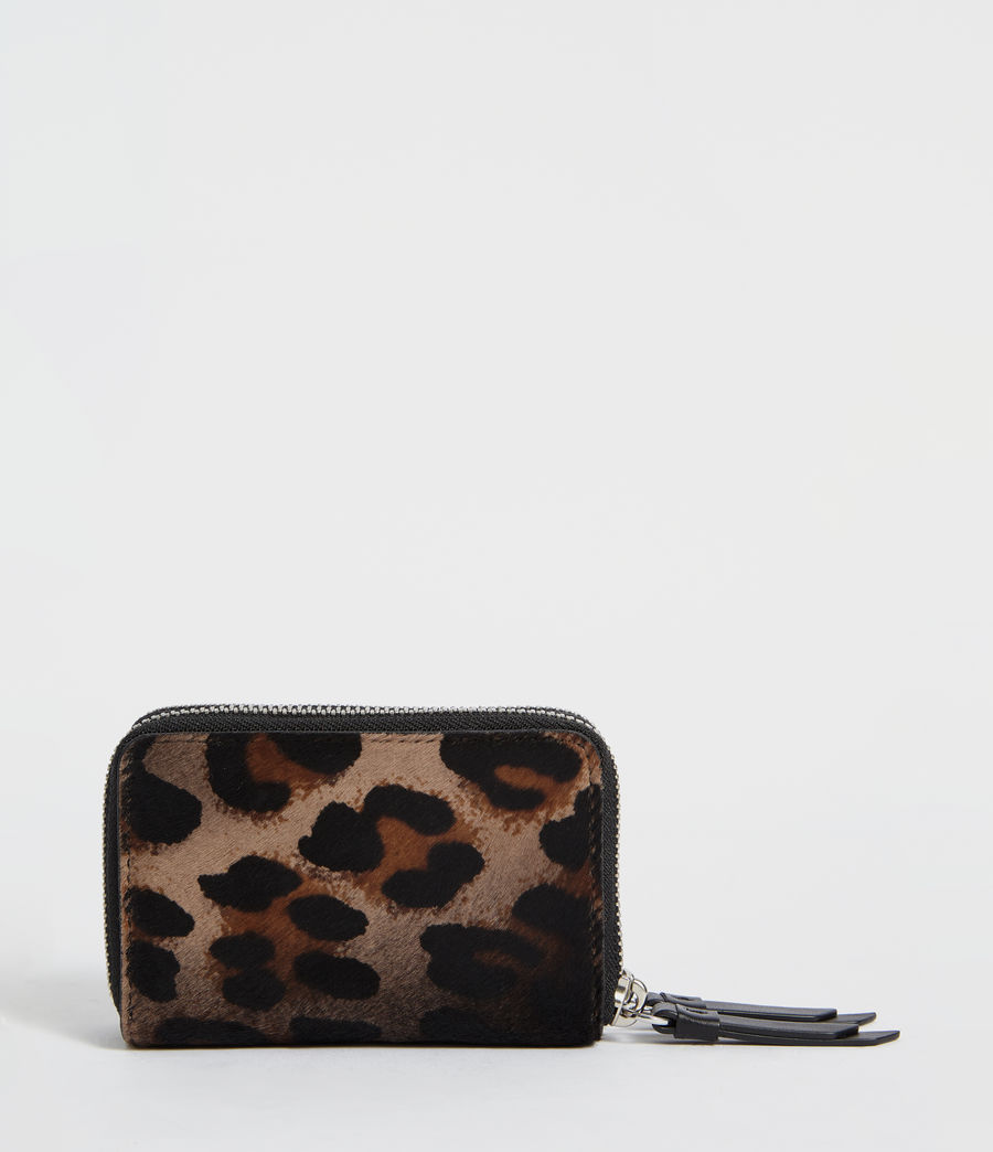 Womens Fetch Leather Cardholder (leopard_black) - Image 2