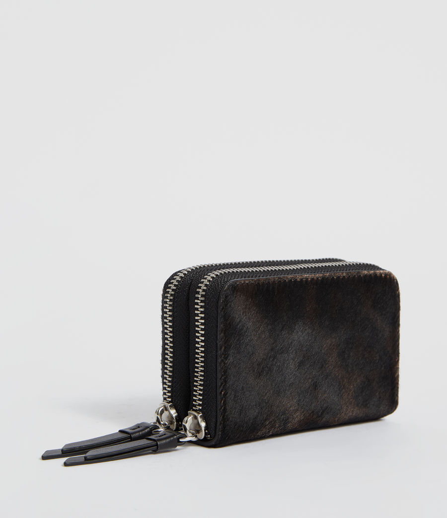 Womens Fetch Leather Cardholder (leopard_black) - Image 3