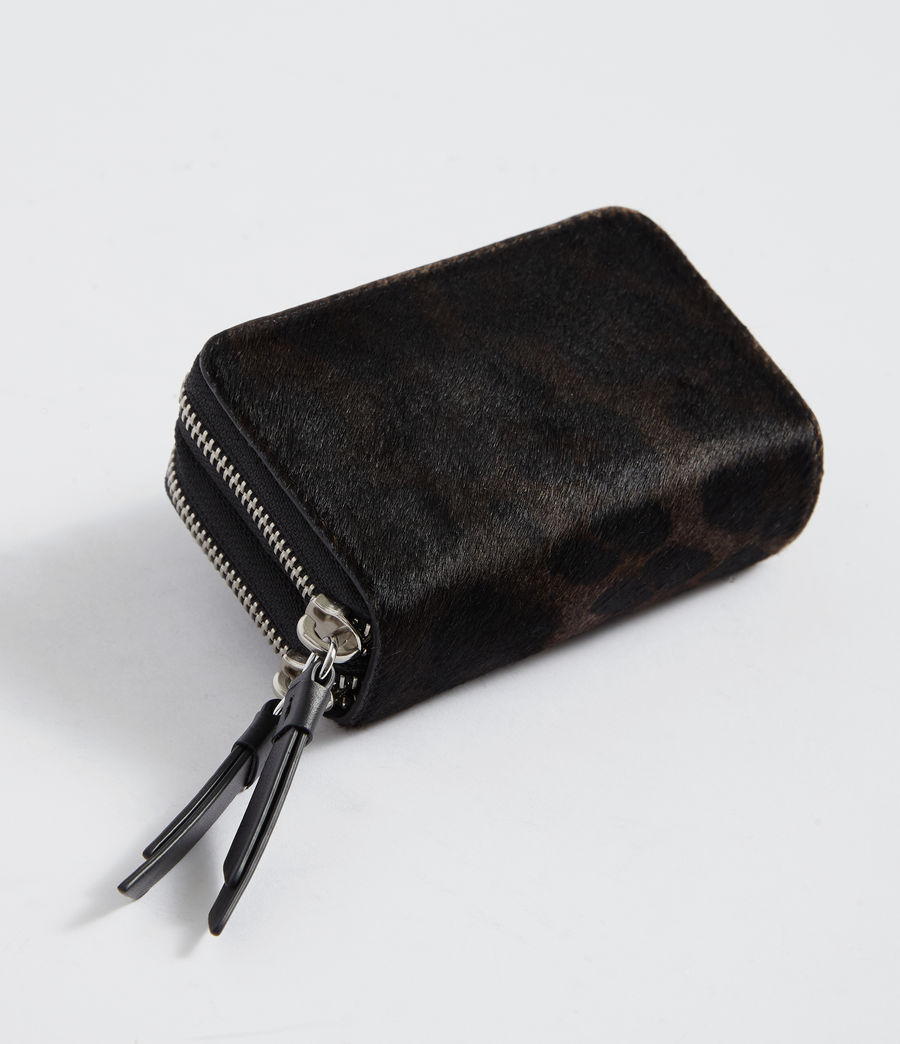 Womens Fetch Leather Cardholder (leopard_black) - Image 4