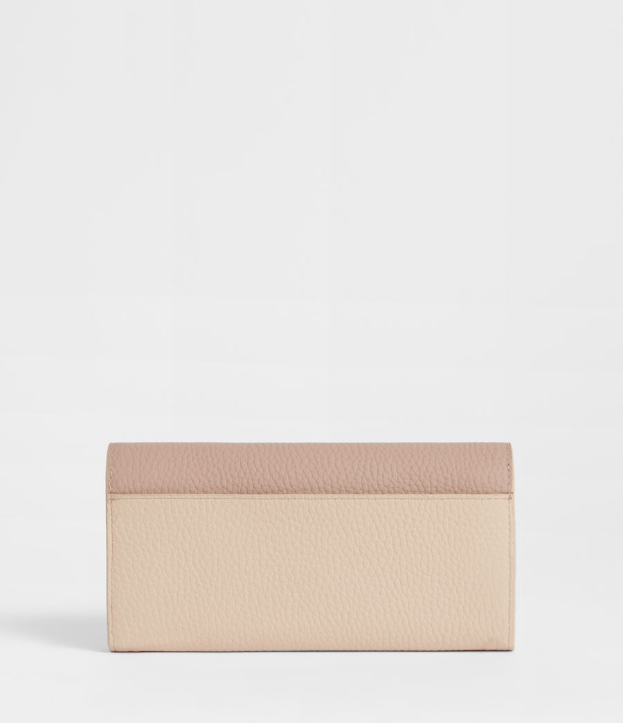 Womens Captain Chain Leather Wallet (beige) - Image 4