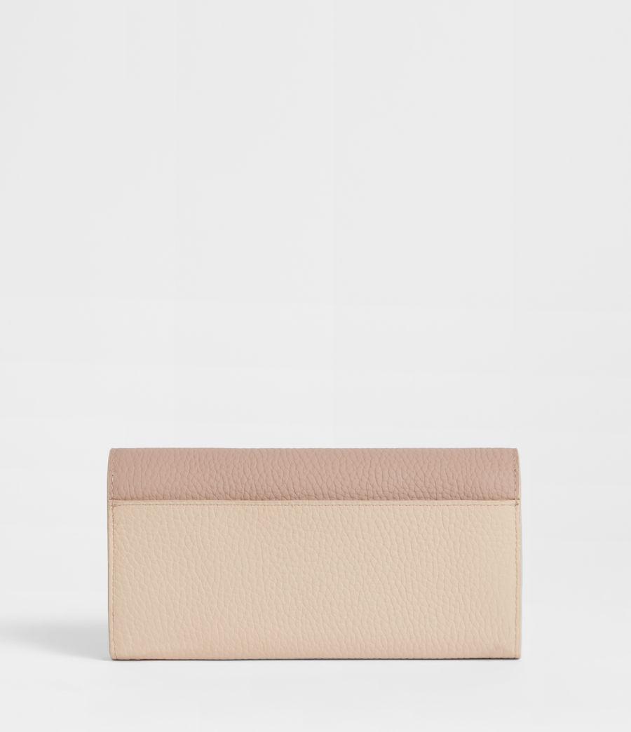 Women's Captain Chain Leather Wallet (beige) - Image 4