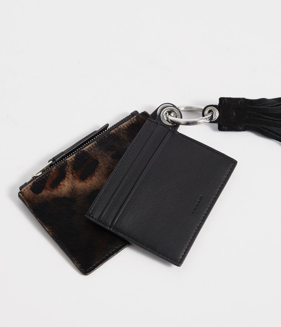 Damen Dive Kartenetui und Geldbörse (leopard_black) - Image 2