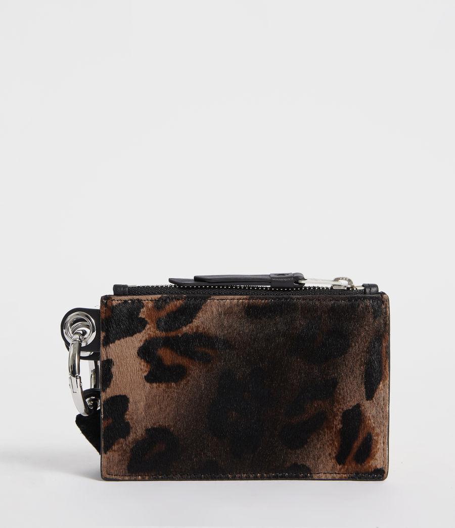 Damen Dive Kartenetui und Geldbörse (leopard_black) - Image 3