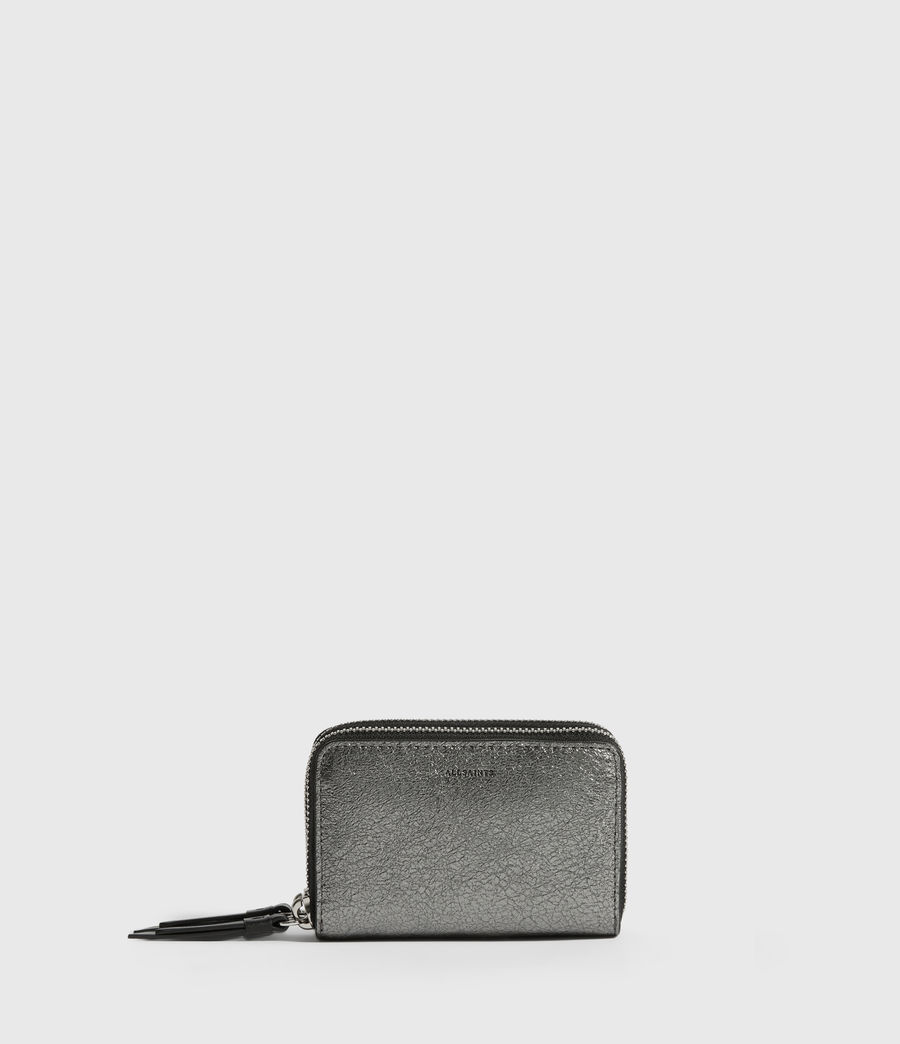 Womens Miki Lea Leather Cardholder (gunsmoke_grey) - Image 1
