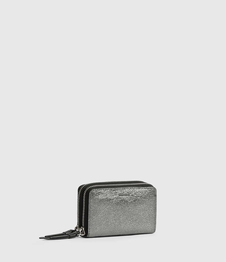 Womens Miki Lea Leather Cardholder (gunsmoke_grey) - Image 3