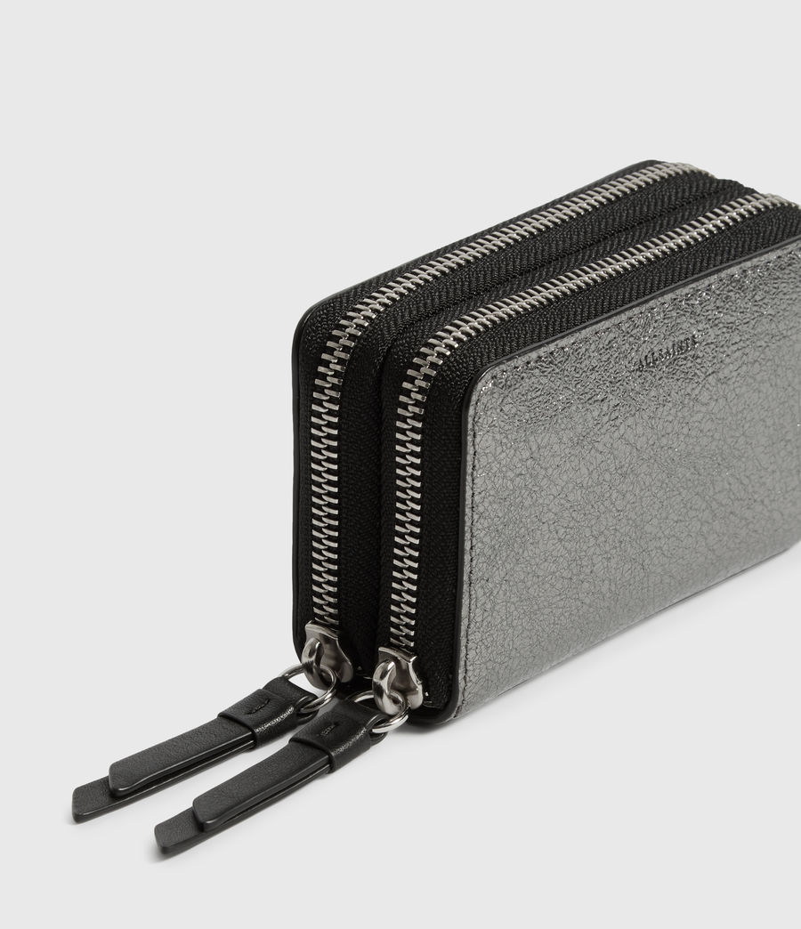 Womens Miki Lea Leather Cardholder (gunsmoke_grey) - Image 4