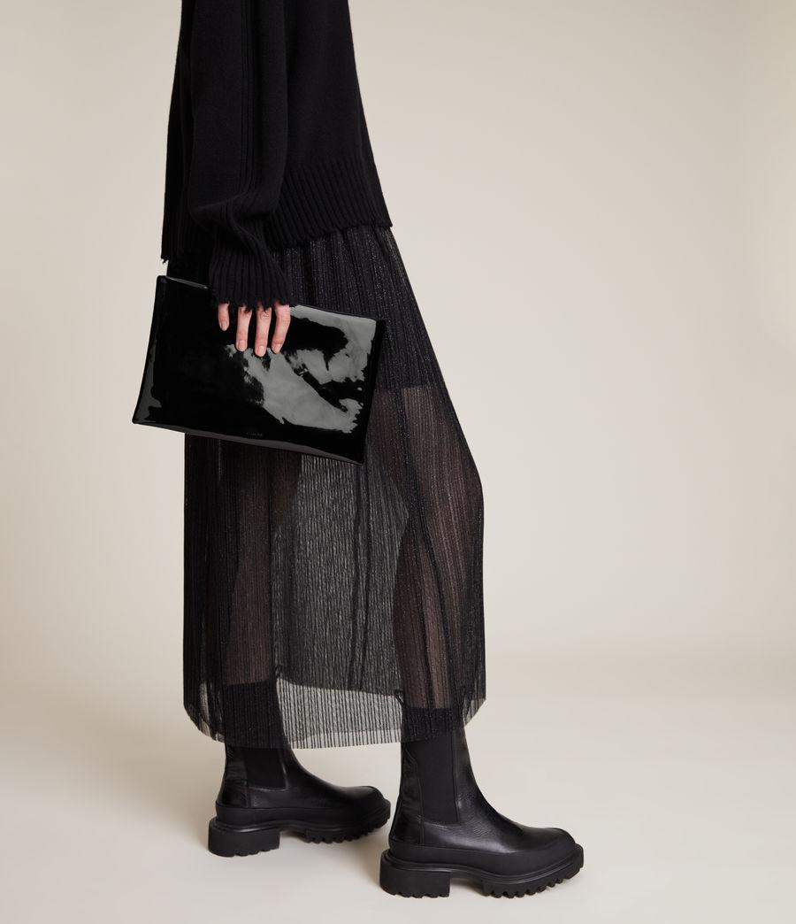 Femmes Pochette en Cuir Bettina (liquid_black) - Image 1