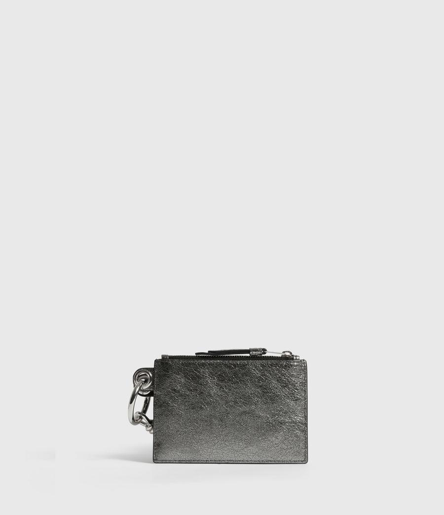 Womens Miki Lea Leather Key Fob (gunsmoke_grey) - Image 1