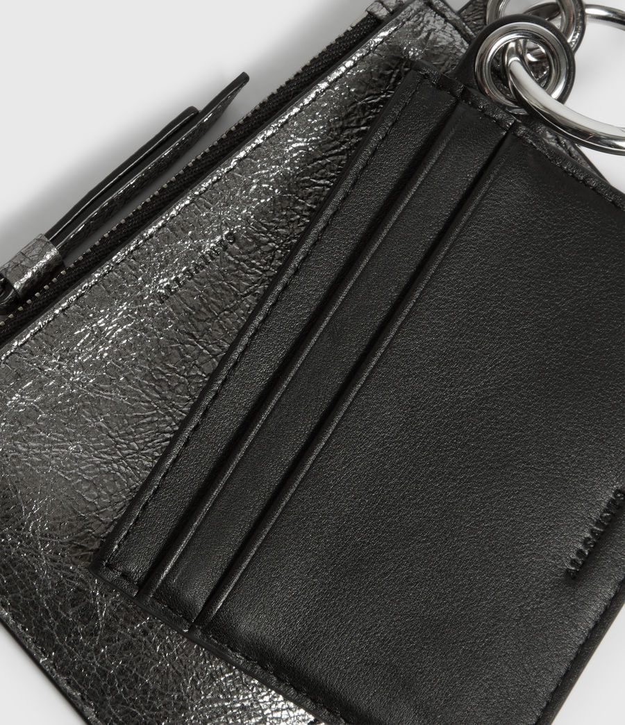 Damen Miki Lea Leather Key Fob (gunsmoke_grey) - Image 2