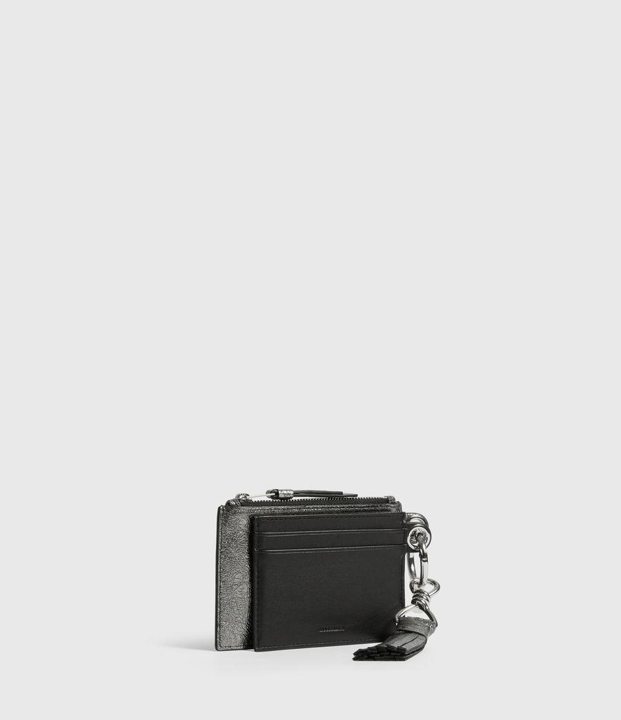 Damen Miki Lea Leather Key Fob (gunsmoke_grey) - Image 3