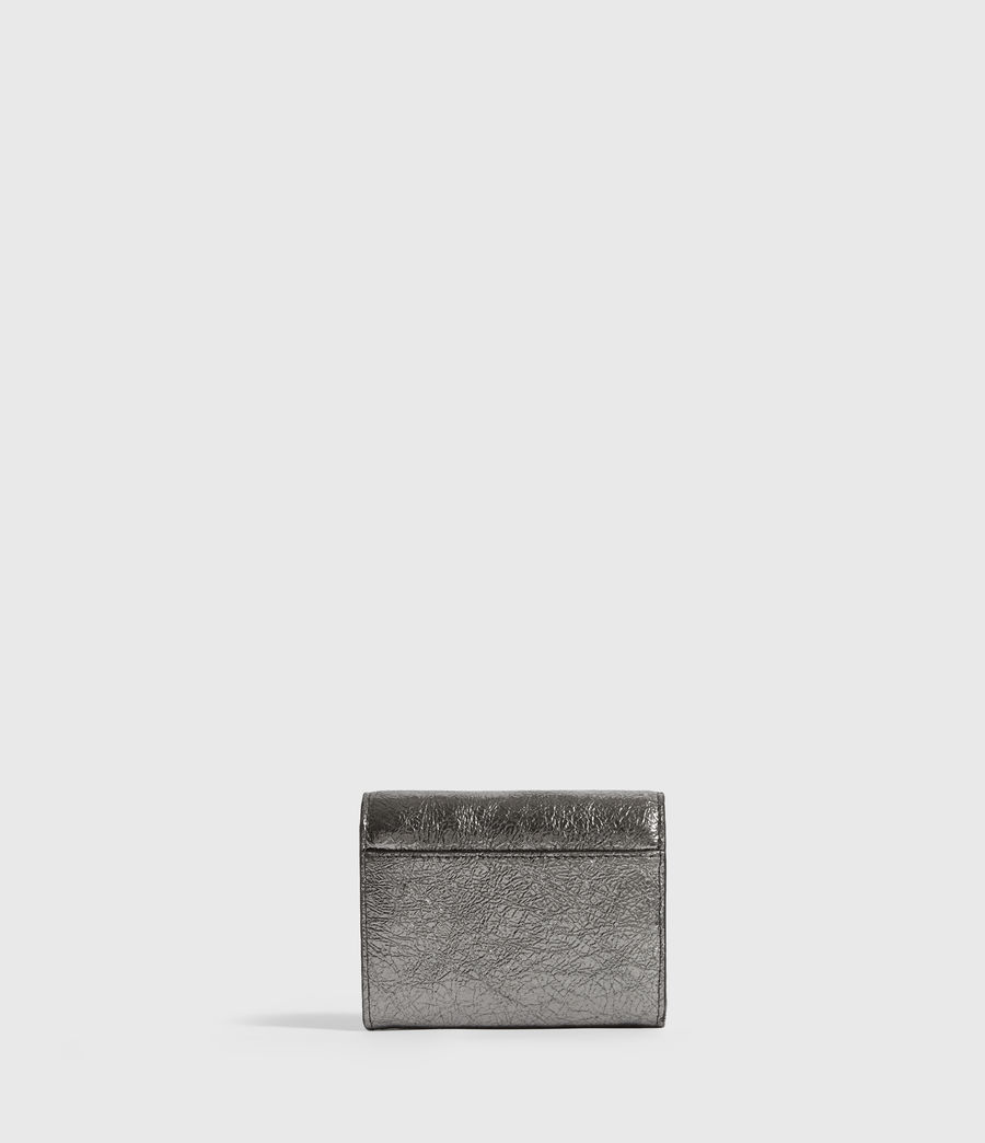 Women's Miki Lea Chain Leather Cardholder (gunsmoke_grey) - Image 5