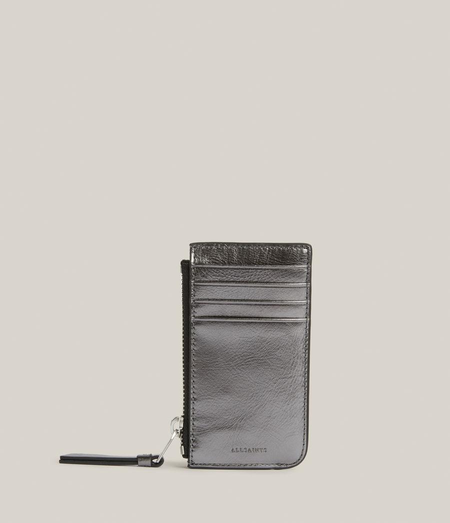 Women's Marlborough Leather Wallet (gunmetal) - Image 1