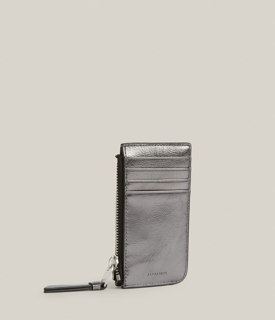 Women's Marlborough Leather Wallet (gunmetal) - Image 3