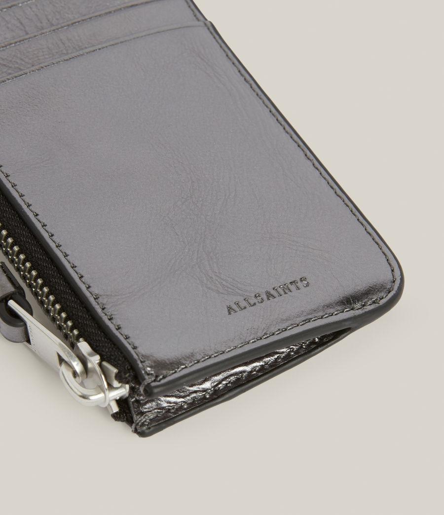 Women's Marlborough Leather Wallet (gunmetal) - Image 4