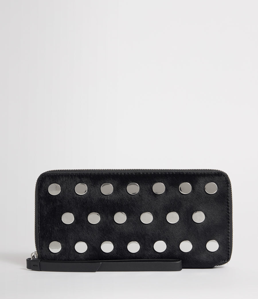 Womens Sid Leather Phone Wristlet (navy_black) - Image 1