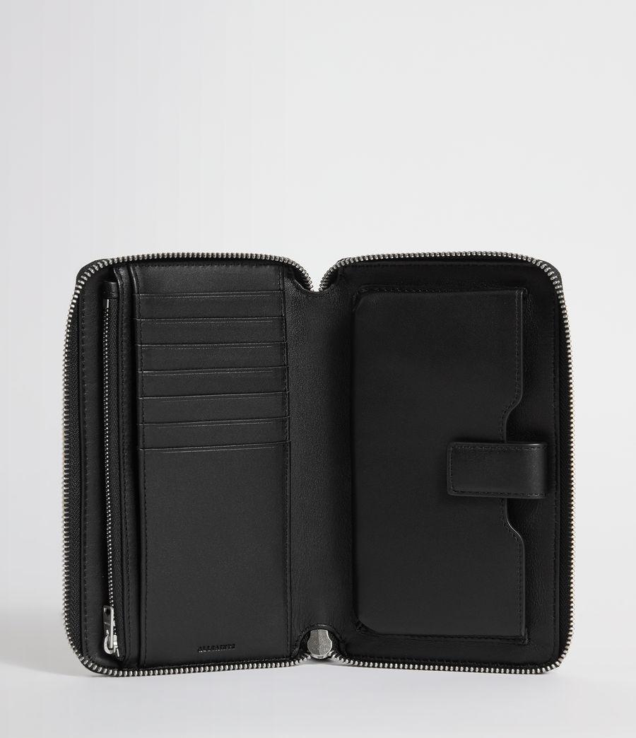 Womens Sid Leather Phone Wristlet (navy_black) - Image 2