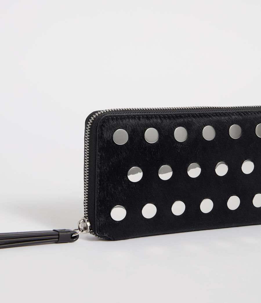 Women's Sid Leather Phone Wristlet (navy_black) - Image 3