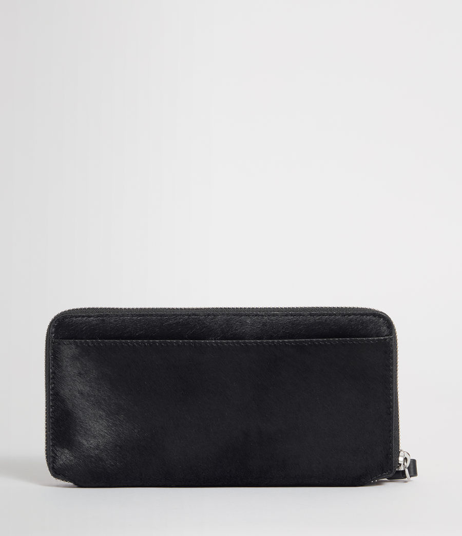Women's Sid Leather Phone Wristlet (navy_black) - Image 4
