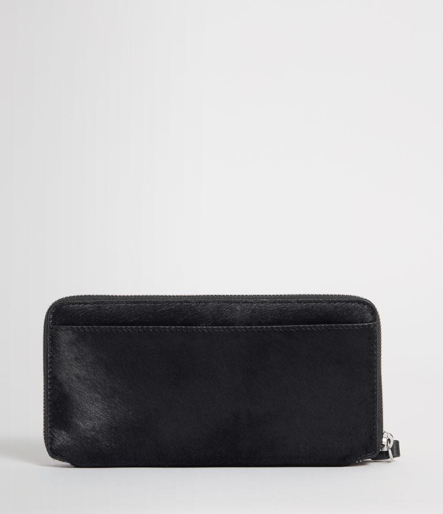 Womens Sid Leather Phone Wristlet (navy_black) - Image 4