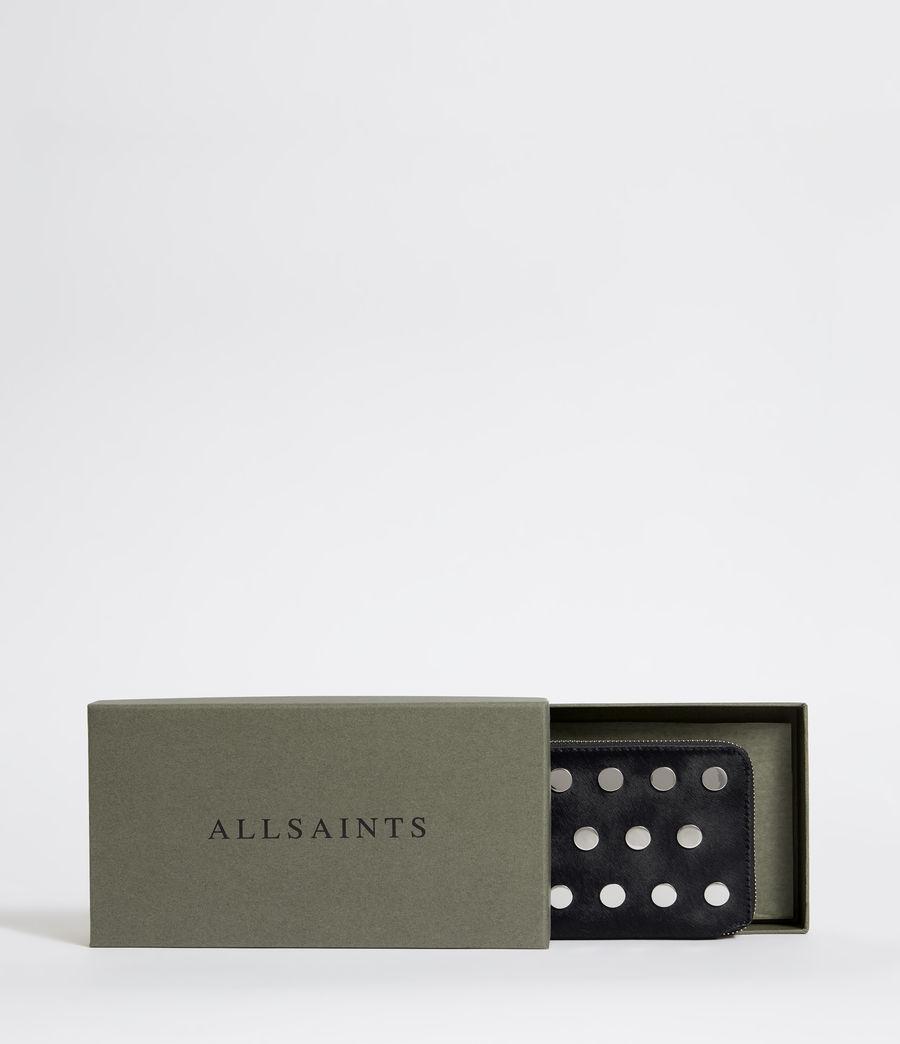 Womens Sid Leather Phone Wristlet (navy_black) - Image 5