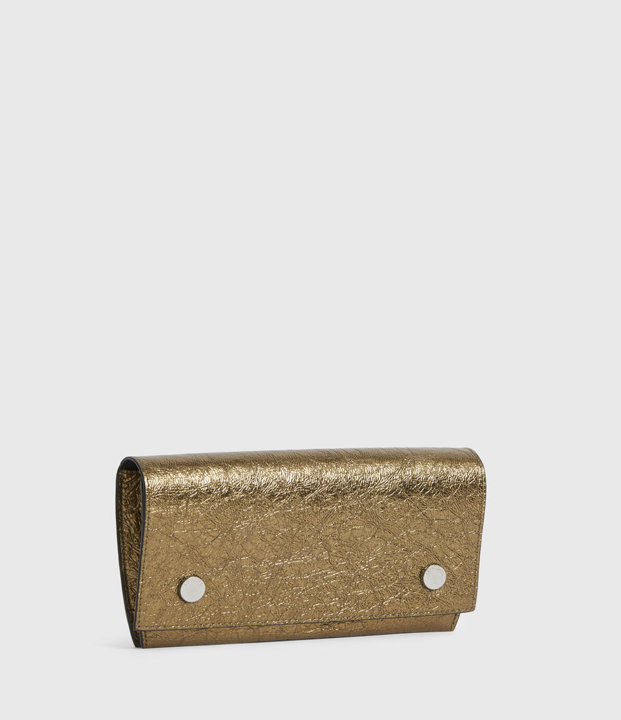 Women's Albert Leather Wallet (gold) - Image 3