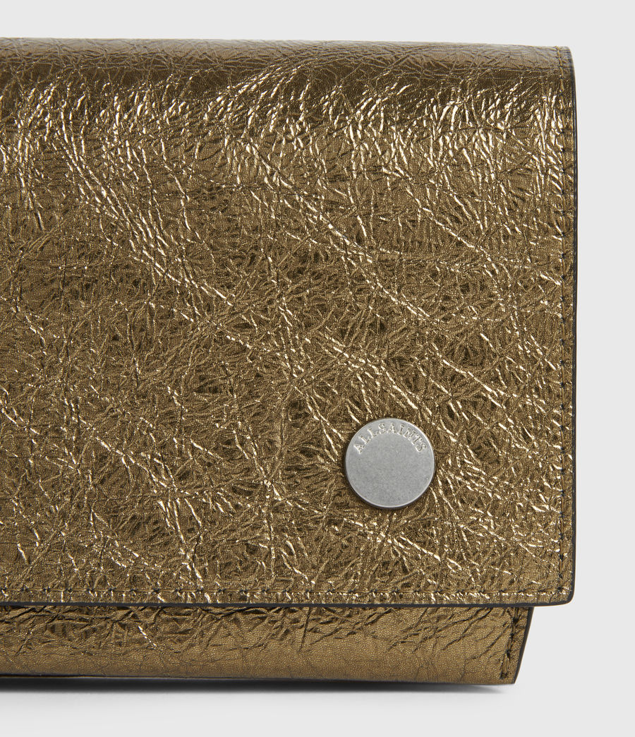 Women's Albert Leather Wallet (gold) - Image 4