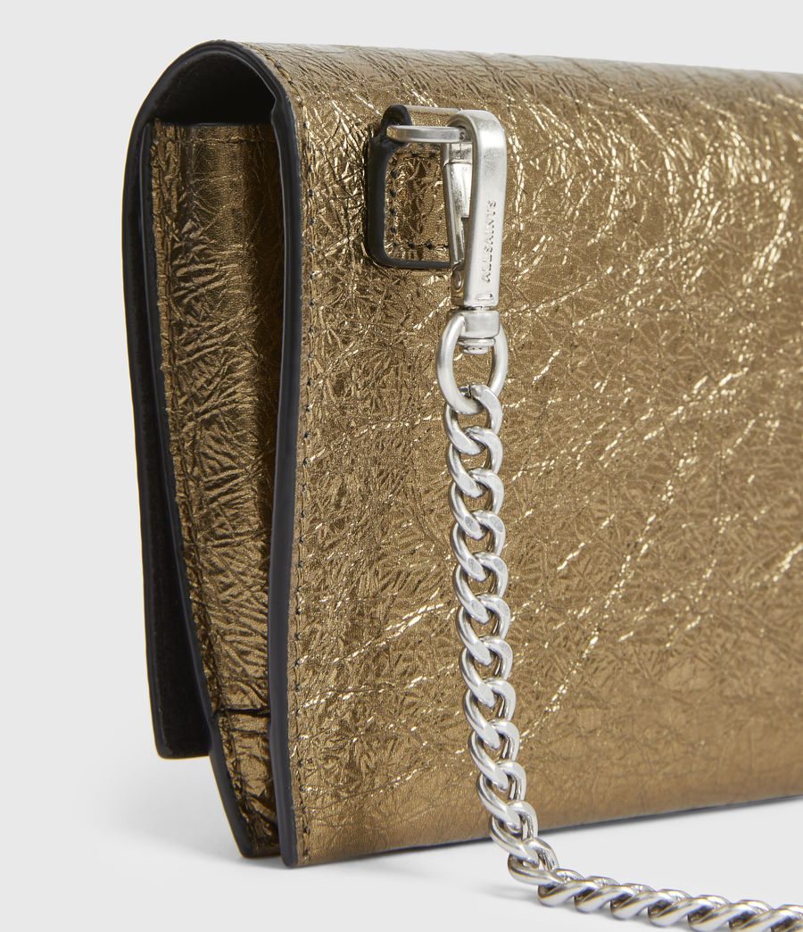 Women's Albert Leather Wallet (gold) - Image 5
