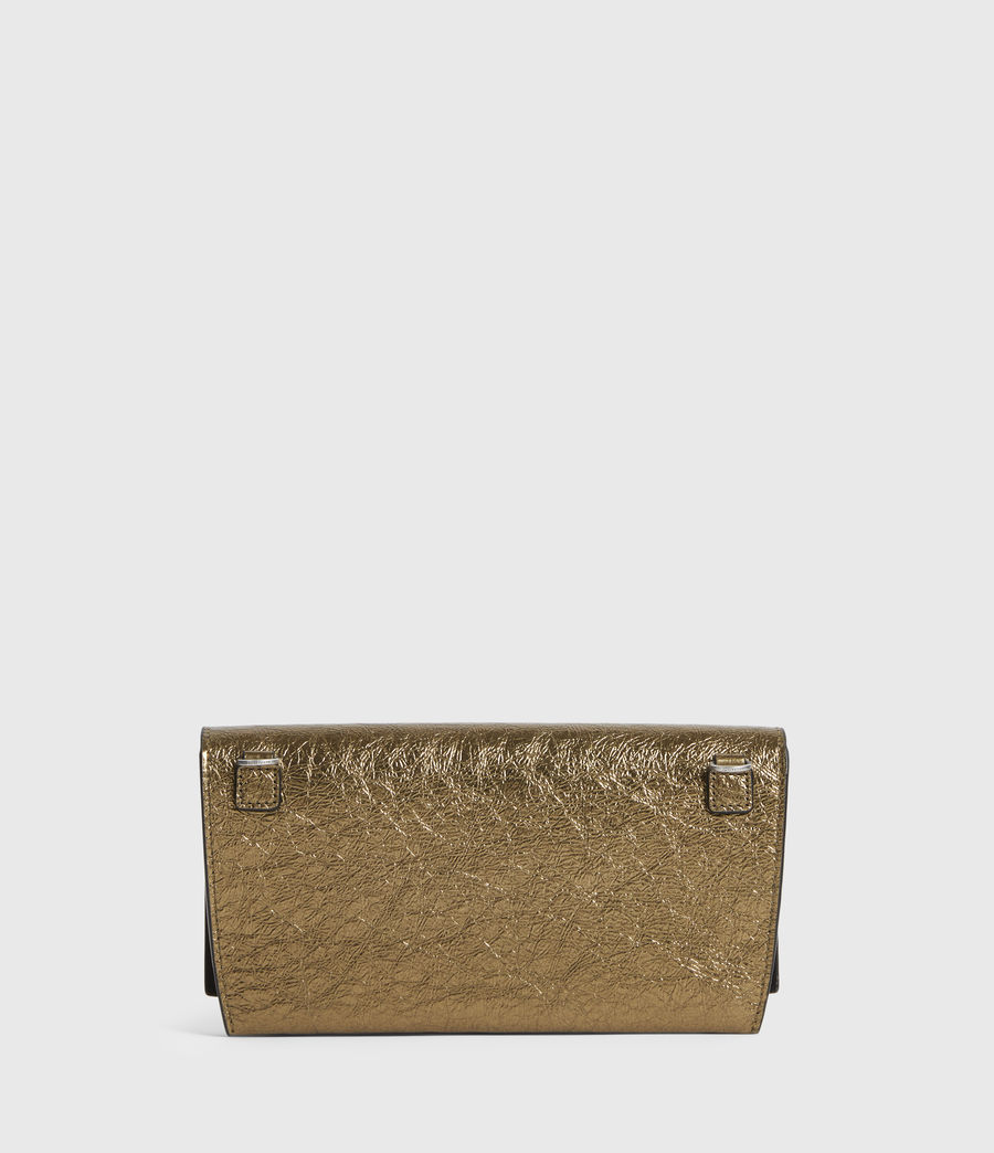 Womens Albert Leather Wallet (gold) - Image 6
