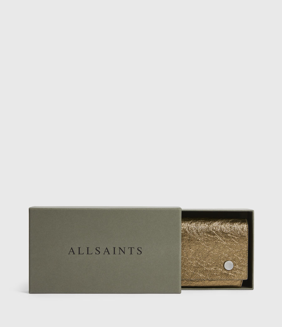 Women's Albert Leather Wallet (gold) - Image 7