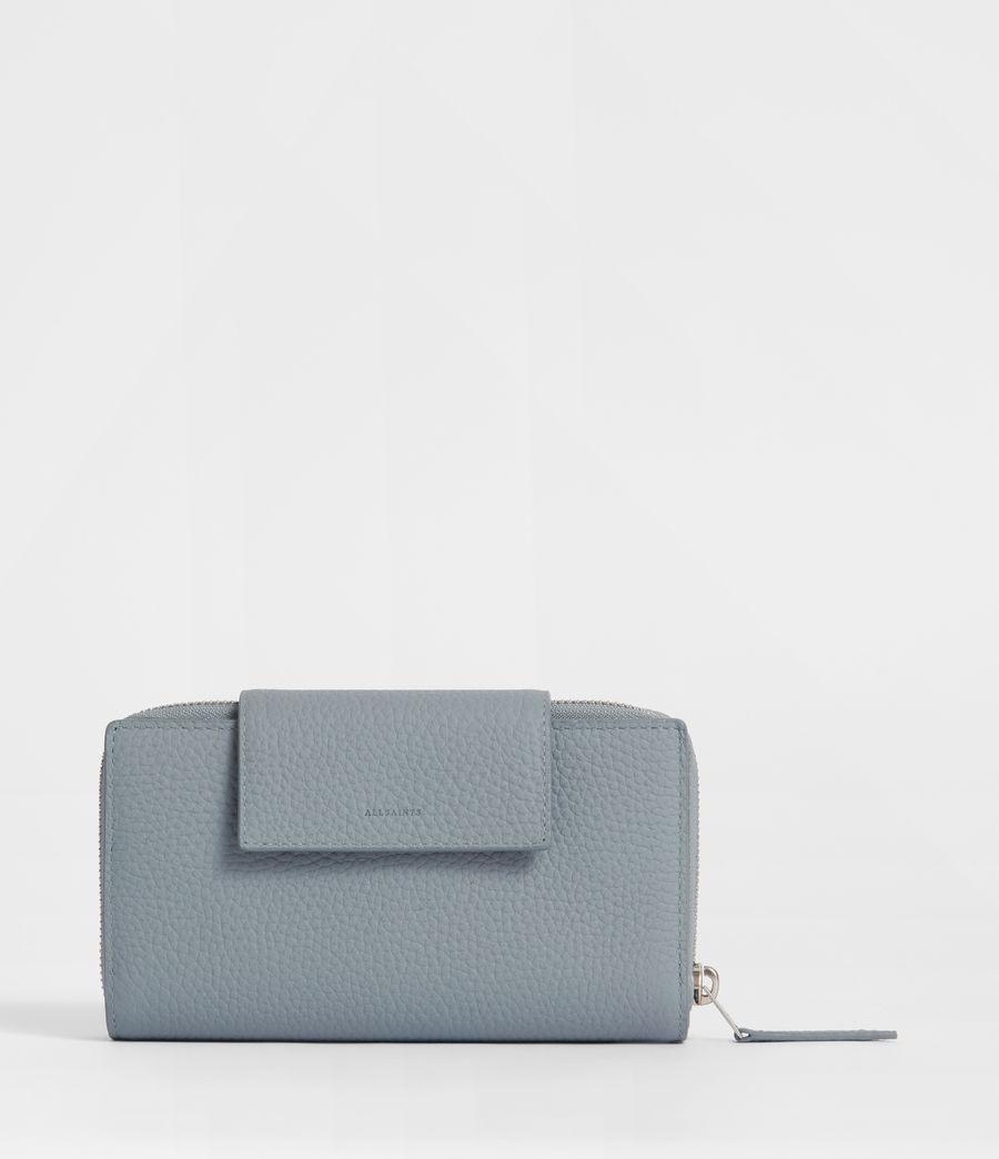 Womens Captain Leather Wallet (denim_blue) - Image 1