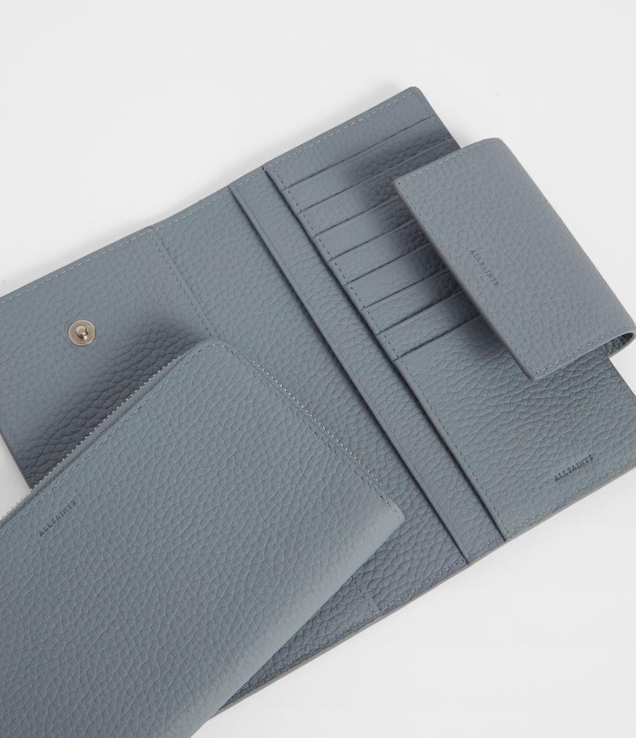 Womens Captain Leather Wallet (denim_blue) - Image 2