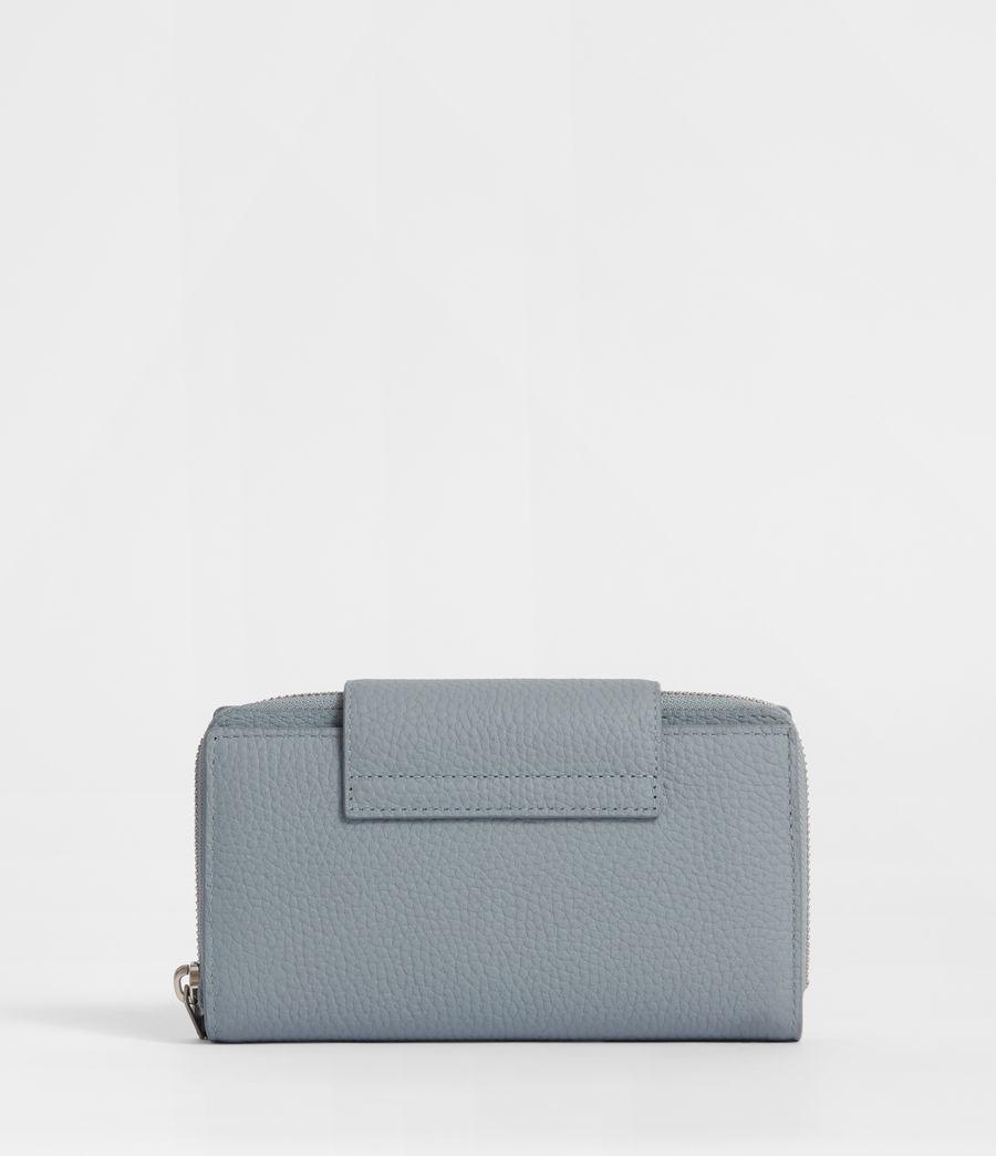 Womens Captain Leather Wallet (denim_blue) - Image 6