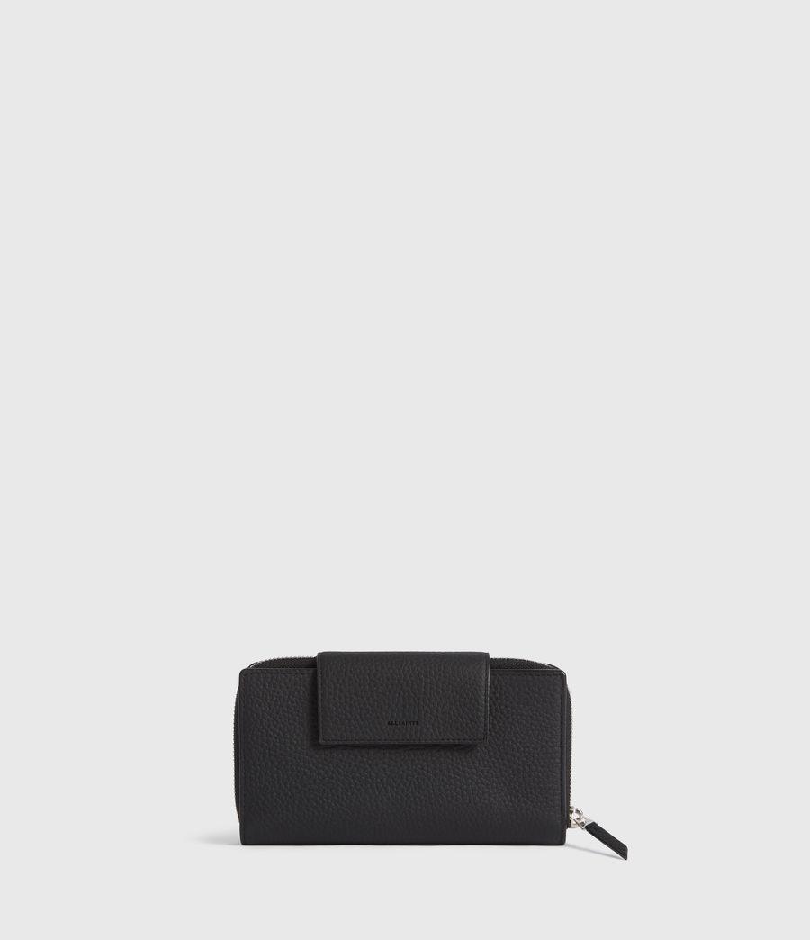 Women's Captain Leather Wallet (black) - Image 1